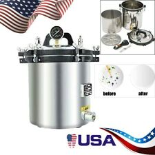 18l110v Stainless Steel Steam Autoclave Sterilizer Dental Pressure Sterilization