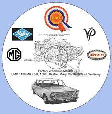 BMC 1100 MK.I & II, 1300 . Kestrel, Riley, Vanden Plas Factory Workshop Manual