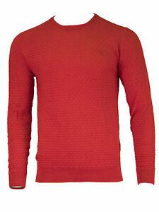 GANT-Men-039-s-Clear-Red-O1-Cotton-Texture-Crew-88543-Size-Medium-NWT