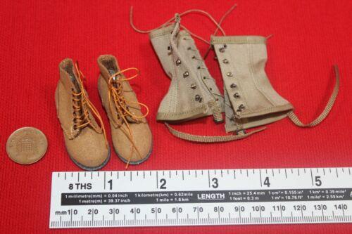 Alerte ligne modles 1:6TH échelle WW2 USMC Boon DOCKER boots /& Leggings AL100021