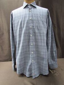 c2dd3256175 Details about Thomas Dean XLT shirt Long Sleeve dress button front black  white checkered