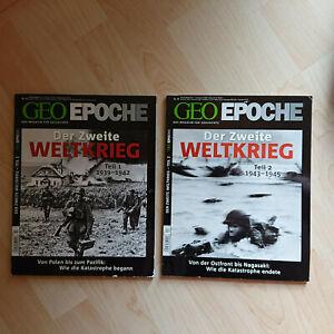 Geo Epoche- Set; Nr. 43 und 44: Der Zweite Weltkrieg Teil ...