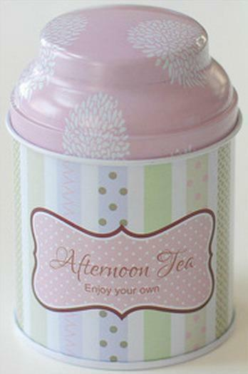 Retro Blue Pink Purple Flower Home Kitchen Metal Coffee Tea Container Jar Tin