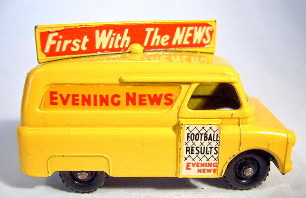 Matchbox RW 42A Evening News Van rare rare rare blacke Plastikräder top e8919e