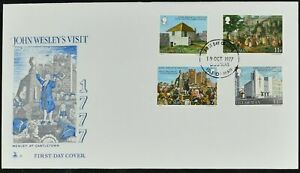 Isle Of Man 1977 John Wesley's Visit Fdc First Day Cover #c52122 Excellente Qualité