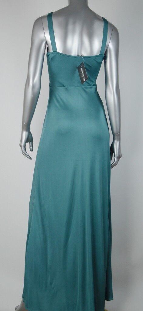 Tahari Tahari Tahari New Womens Green Solid Jersey Lined Pleated Gown Maxi Dress MSRP  298 XS 4f73f4