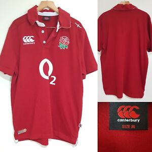 9c5334153da Canterbury England Rugby Union Shirt Red O2 Home Size M Six Nations ...