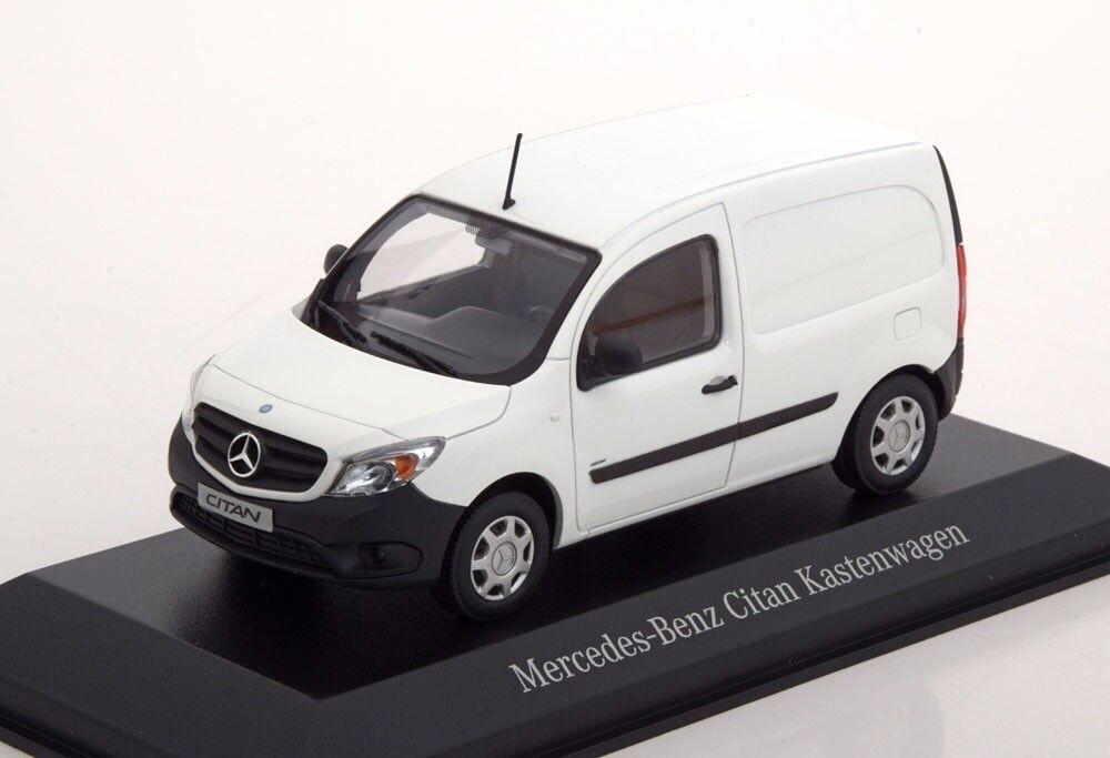 MERCEDES Citan CDi W415 ARCTIC bianca CODICE 3 Van 1 43 Minichamps (modello concessionario)