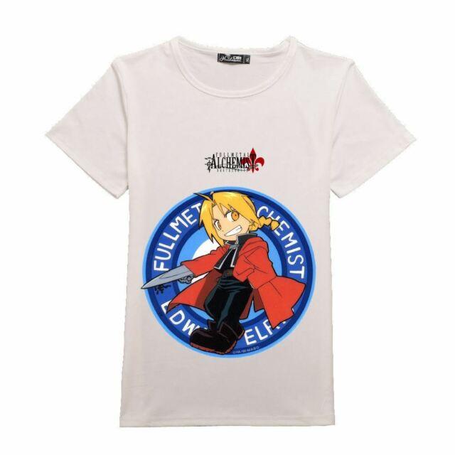 Anime Fullmetal Alchemist Cool Otaku Casual Short Sleeve Unisex T-Shirt Tee #34