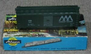 Athearn-HO-Scale-40-Foot-Vermont-Railway-VTR-Box-Car-No-169-Assembled-Kit-New