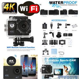 "2""inch Ultra HD 16MP Helm Action Camera Sports DV WiFi Cam 30m Waterproof Pro"