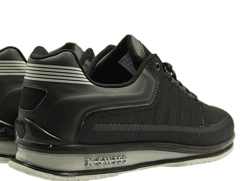 BRAND NEW  Herren K.SWISS RINZLER LACE UP TRAINERS IN FOOTWEAR IN TRAINERS BLACK NAVY GREY d2dd8a