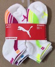 Puma Sport Cushioned  6-Pair Women's Low Cut Socks  White  (9351)