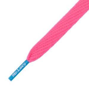 Mr. Lacy Neon Rosa Con Suave Azul consejos Zapato Cordones-Funky Oficial Arranque Skater