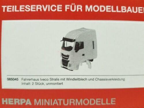1//87 Herpa Fahrerhaus Iveco Stralis mit WLB und Chassisverkleidung 2 Stück  ...