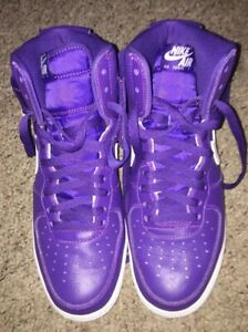 sports shoes c618f b6609 Details about Nike Air Force 1 High QS Retro Purple Mens Size 9