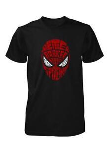 Bnwt Spiderman Head Word Cloud Vieilli Imprimé Enfants T Shirt 3-15 Ans-afficher Le Titre D'origine Faire Sentir à La Facilité Et éNergique