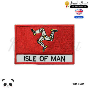 ISLE-OF-MAN-UK-County-Flag-With-Name-Embroidered-Iron-On-Sew-On-Patch-Badge