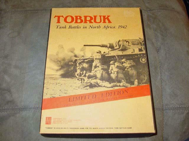 Avalon Hill AH 1975 - TOBRUK -match  RARE URSPRUNGS Konvention 1 a BEGRÄNSAD UTION