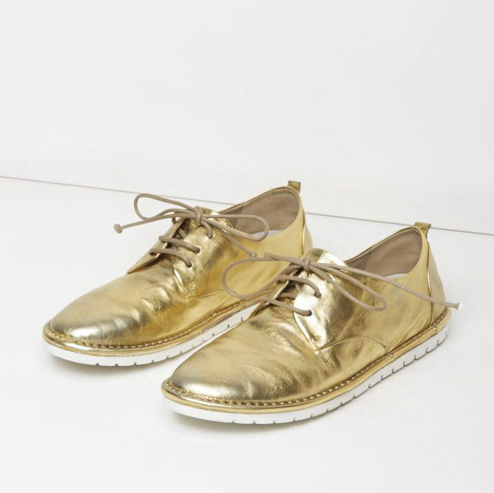 Marsèll Gomma Sancrispa Pelle Oxfords in Gold Taglia 37