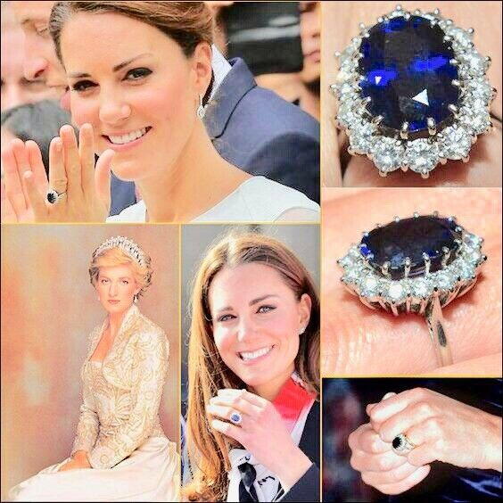 The Kate Middleton Engagement Ring Replica Royal Inspiration For Sale Online Ebay