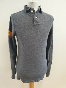 P719-superdry-pour-homme-gris-chine-a-manches-longues-le-applique-Polo-T-Shirt-UK-S-UE-46