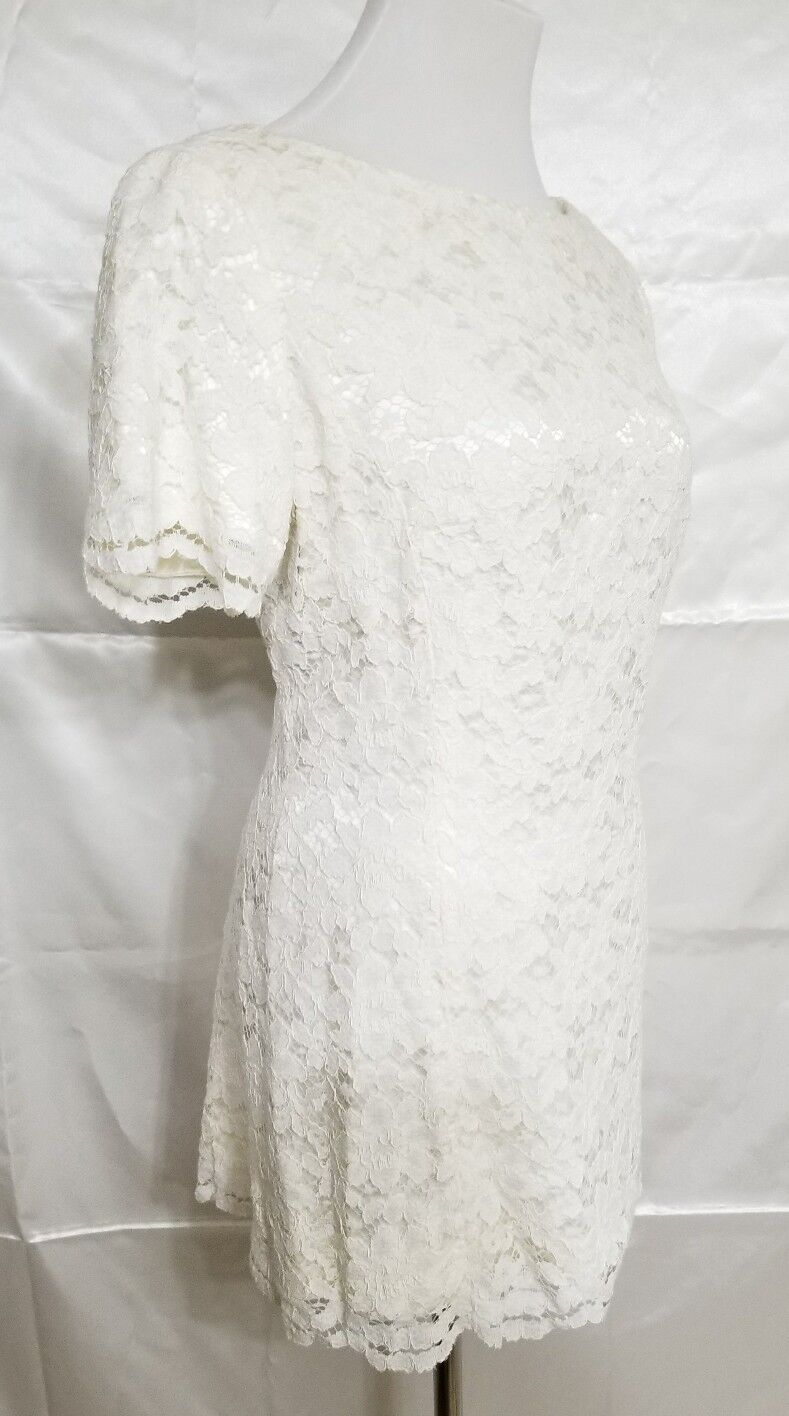 Vintage Marie St. Claire 8 Lace Ivory off white S… - image 2