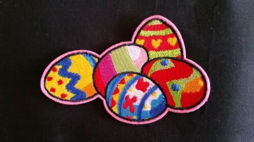 easter egg iron on applique patch image embroidered embellishment