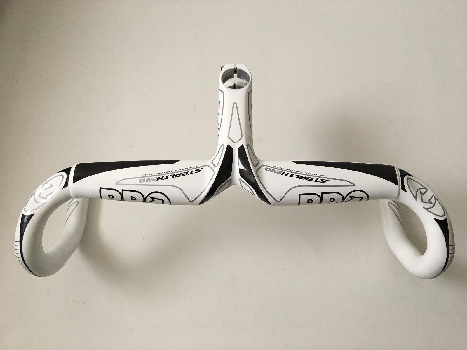 Pro Stealth Evo Carbon Lenker Vorbaueinheit Vorbaueinheit Vorbaueinheit 90 400mm Weiß Anatomisch OVP Neu 039403