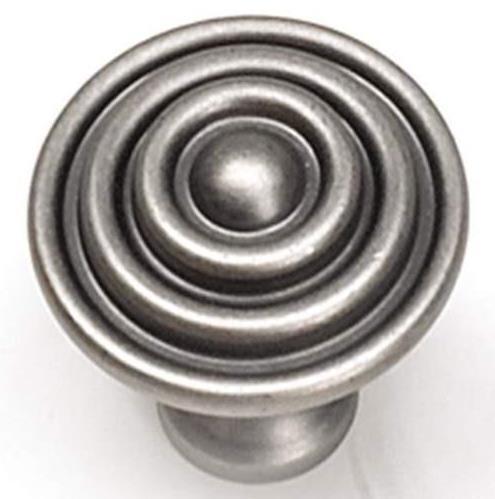 * 12 Laurey Kama Target Mushroom Knobs 23006 Antique Pewter Metal 1-1//2-Inch