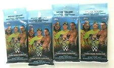 (4) 2018 Topps WWE Then Now Forever Trading Cards Retail 21ct Fat Pack Lot FS