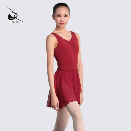 Adult Chiffon Ballet Leotard Skirt Dance Pull On Ballet Skirt Chiffon