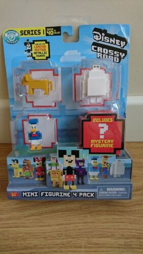 Disney Crossy Roads Mini Figure Figurine 4 Pack Choisir Votre Pack