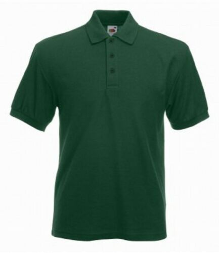 Fruit of the Loom Men/'s Heavy Poly//Cotton Piqué Short Sleeves Polo Shirt Sports