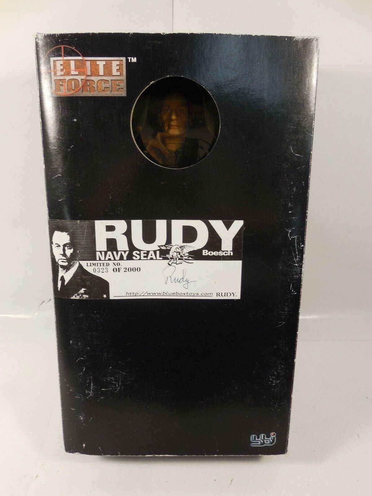 RARE SIGNED BBI ELITE FORCE NAVY SEAL SEAL SEAL RUDY BOESCH 1 6 SCALE FIGURE  323 2000 MIB 343f47