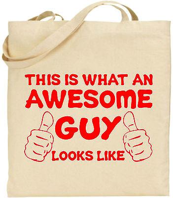 Toll Mann Groß Baumwolltasche Einkaufstasche Leinen Lustig Vater Geschenk Dad