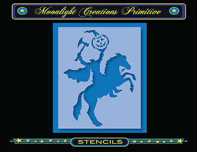 Halloween Stencil~HEADLESS HORSEMAN IS BACK~Pumpkin Horse Scary Halloween Decor