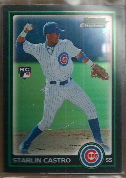 Honkbal 2010 Bowman Chrome Refractor #211 Starlin Castro Chicago Cubs Baseball Card Verzamelkaarten: sport