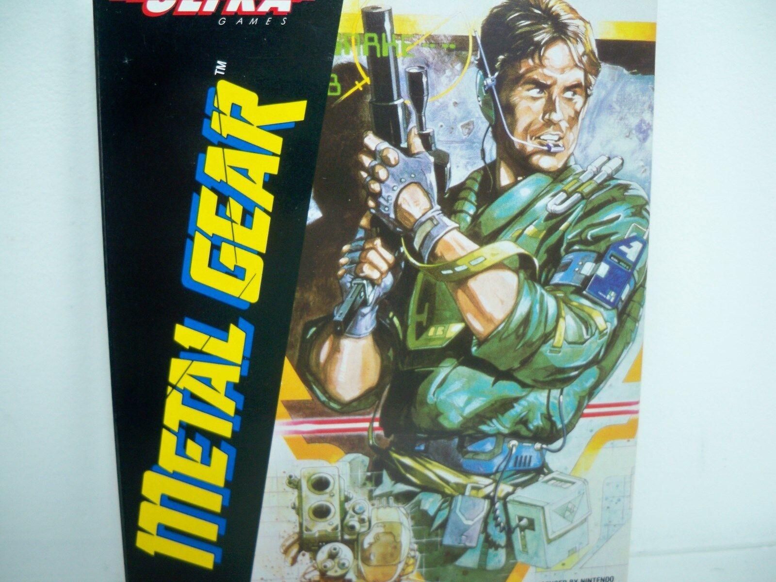 D0505161 Metal Gear Menta en caja MIB Nes 100% Operativo cubierta de plástico instrucciones