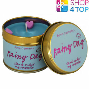 RAINY-DAY-TINNED-CANDLE-TIN-BOMB-COSMETICS-FLORAL-SCENTED-NEW