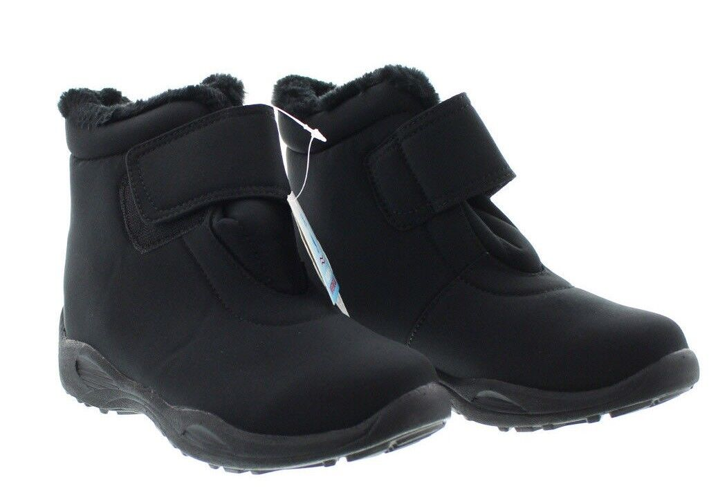 Propet W4416 Womens Madison Ankle Strap All Weather Boots W4416 Black