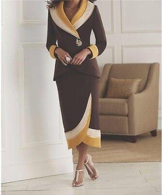 Mother Of bride Groom Wedding Women/'s Church Women/'s dress Skirt Suit plus 20W2X