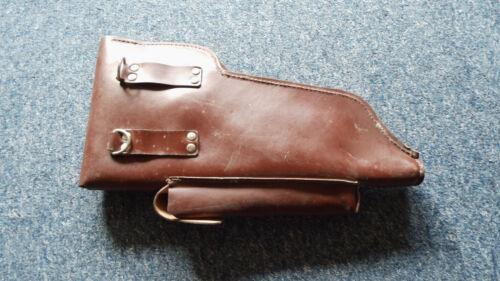 DDR Pistolentasche Holster für Maschinenpistole braun MDI mit Riemen 1 Stück