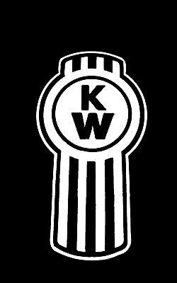 Kw Kenworth Logo Big Rig 18 Wheeler Logo Vinyl Decal