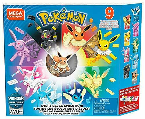 Megakon scan Tracks Pokémon Eevee evolution collection block 470 piece GFV85