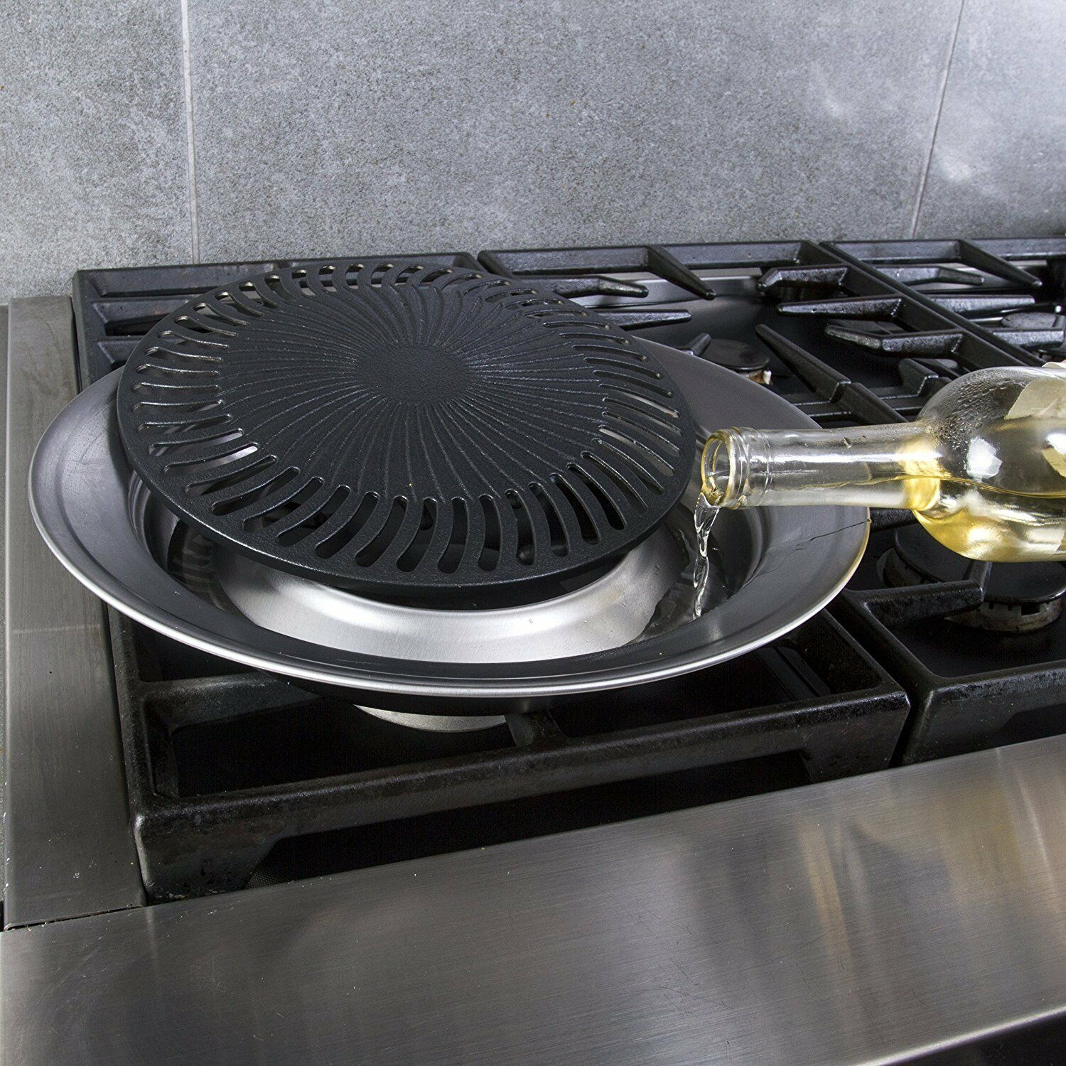 Details About Smokeless Indoor Stove Top Grill Nonstick Bbq Griddle Pan Electric And Gas Stove