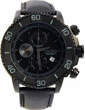 Nautica Men's N20062G NST 500 Black Polyurethane and Black Dial Watch