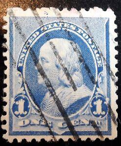 Very Nice 1890 1893 Dull Blue 1c Franklin Stamp Scott 219 J183 Ebay