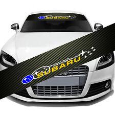 SUBARU IMPREZA Car Window Windshield Carbon Fiber Vinyl Banner Decal Sticker DIY