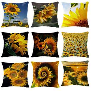 Am-Beautiful-Sunflower-Linen-Pillow-Case-Sofa-Cushion-Cover-Home-Car-Decor-Cand